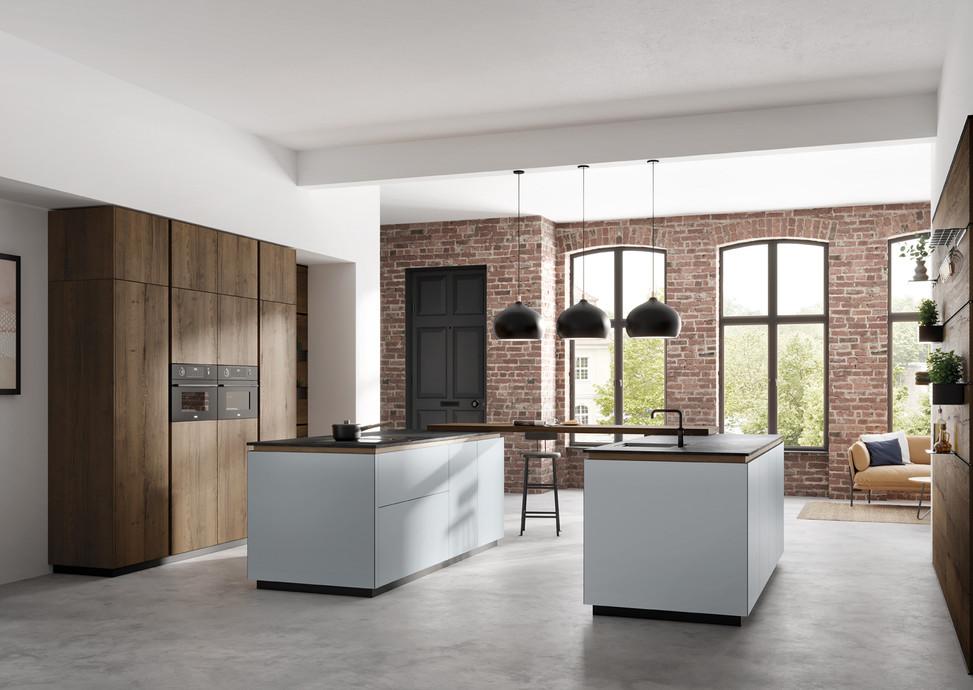NEW! Rotpunkt Küchen Zerox HPL XT Just Grey |  Zerox VER SY Dark Split Oak
