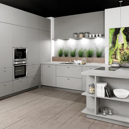 № RP 30 Кухня Rotpunkt Küchen Zerox - Grigio HPL XT