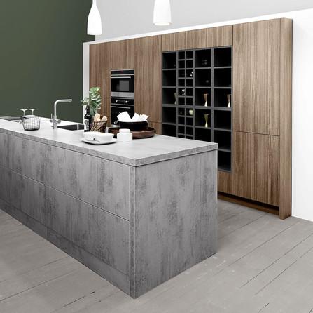 RP 02 Кухня Rotpunkt Küchen Zerox Edition FM - Concreto FM | Zerox Edition - Euca Caramel KQ