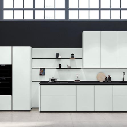 № RP 55 Кухня Rotpunkt Küchen Zerox HPL XT - Daylight Grey