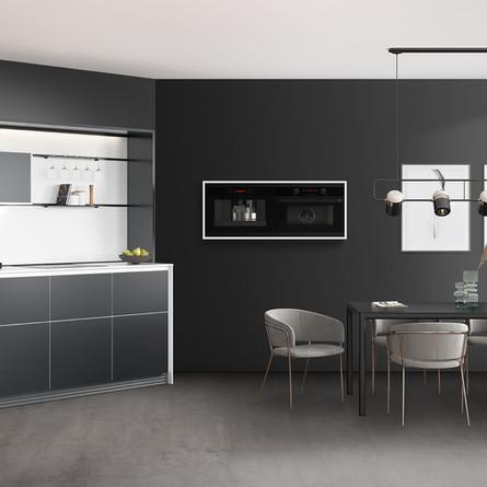 № RP 51 Кухня Rotpunkt Küchen Slice Metal Line HQF XT  Carbon