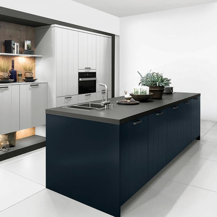 № RP 27 Кухня Rotpunkt Küchen Linara - Daylight grey LX | Linara - Midnight blue LX