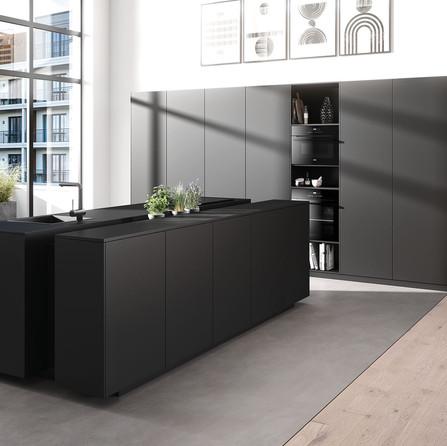 № RP 49 Кухня Rotpunkt Küchen Core DM - Carbon Brushed Metal DM