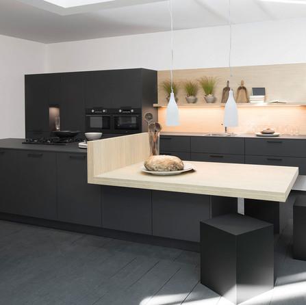 № RP 29 Кухня Rotpunkt Küchen Zerox - Carbon HPL XT