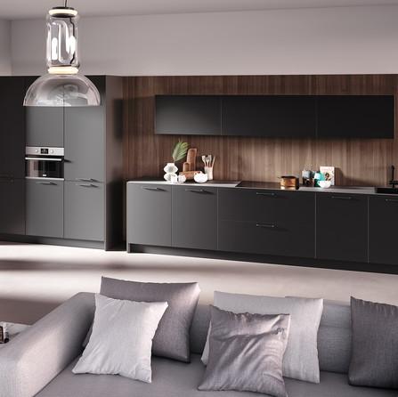 № RP 44 Кухня Rotpunkt Küchen Zerox HPL XT - Black XT