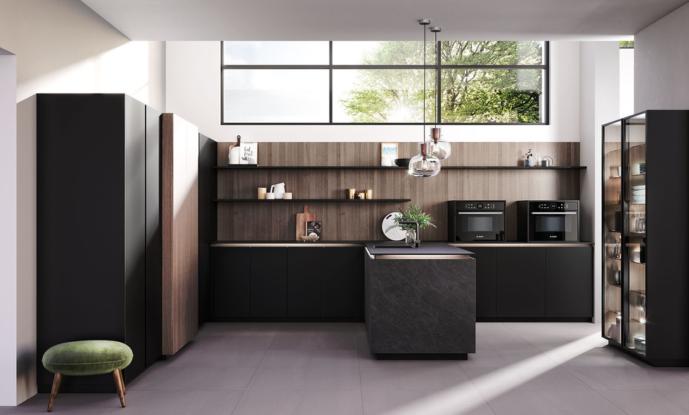 RotPunkt Küchen Ceramica CE - Black Rock