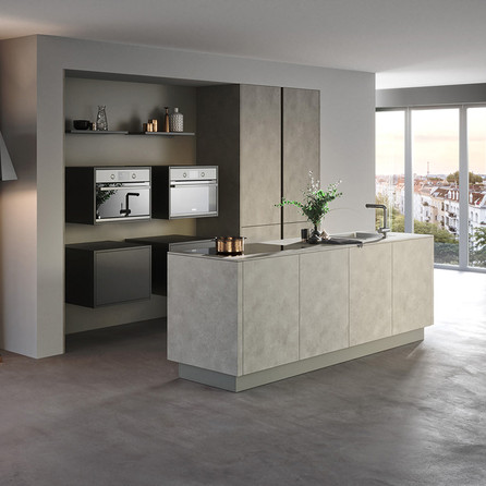 № RP 45 Кухня Rotpunkt Küchen Ceramica CE - Grey Rock CE