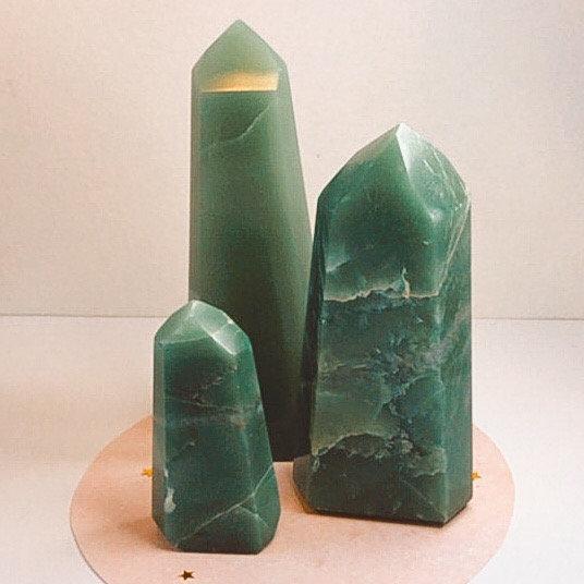 Ponta de quartzo verde - M