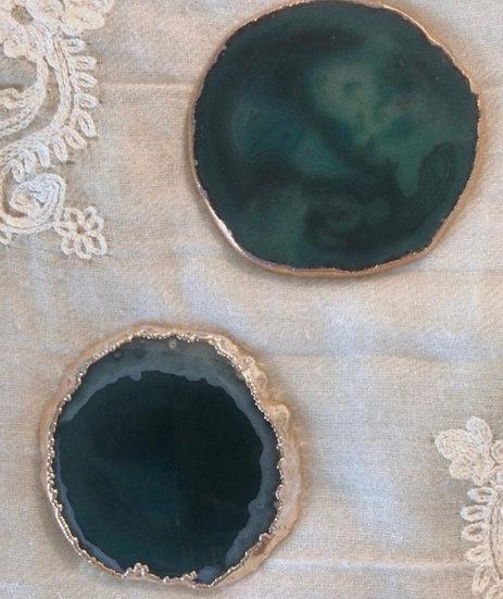 Porta Copos de Ágata Verde