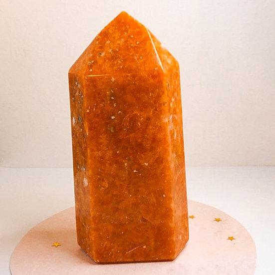 Ponta de calcita laranja - G