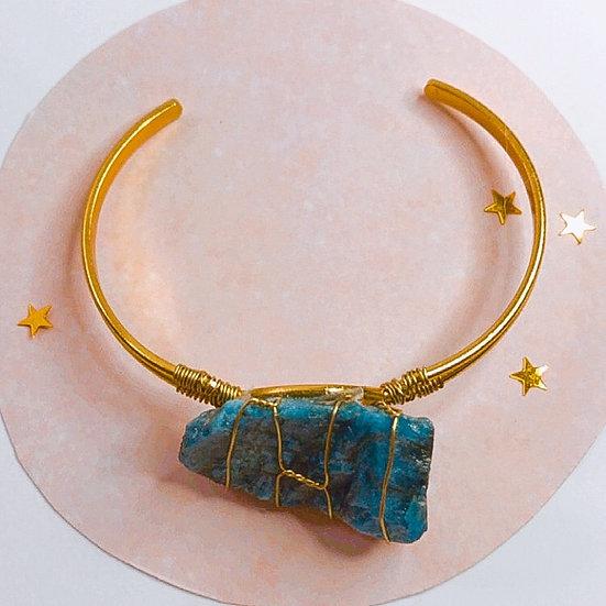 Bracelete de apatita azul
