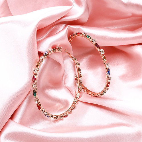 All the Jewels Hoops - Multicolored