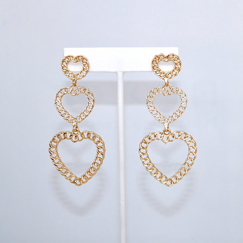 Gold Chain Hearts
