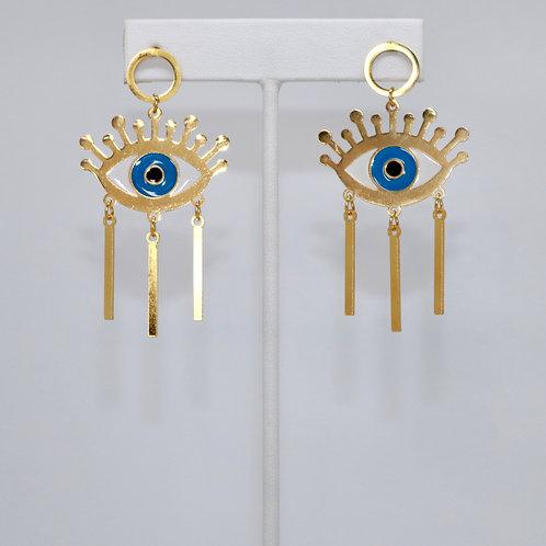 Gold Evil Eye Drip