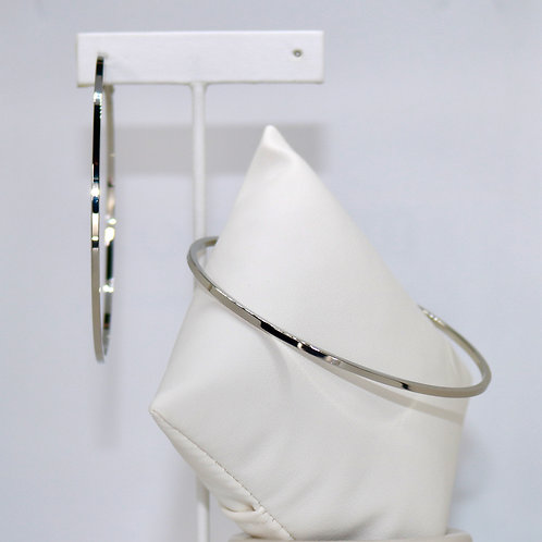 Square Strand Hoops