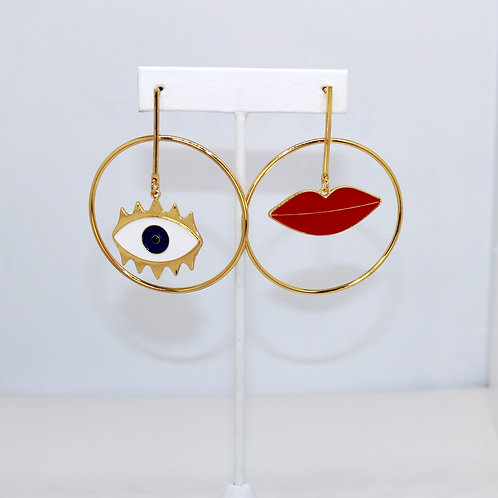Eye + Lip Hoops