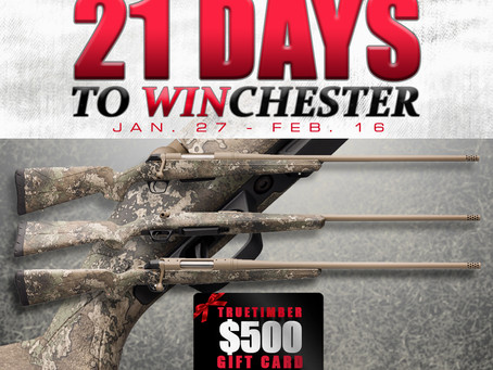 TrueTimber® Teams up with Winchester Repeating Arms for 21 Days to WINchester Giveaway