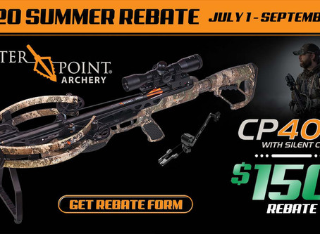CenterPoint Archery® 2020 Summer Rebate Features CP400 Crossbow in TrueTimber® Strata Camo
