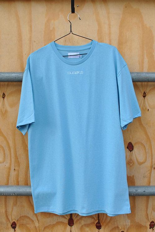 Dubøka Plain Print Blue Tee