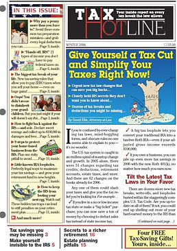 Boardroom tax hotline faux issue magalog-style direct mail promo