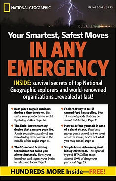 National Geographic survival manual bookalog self-mailer