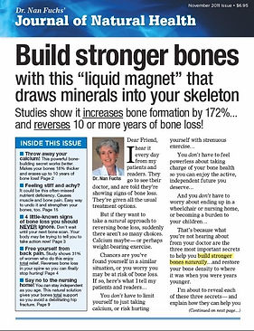 Journal of Natural Health Soundview bone support supplement issuelog self-mailer