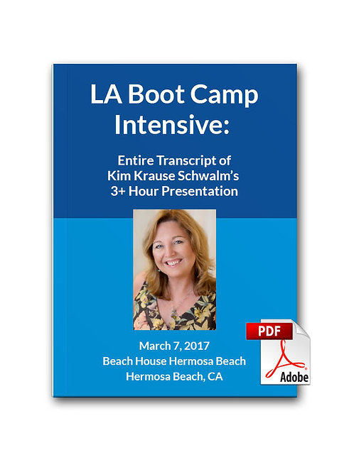 Virtual LA Boot Camp Intensive Guidebook AND Transcript
