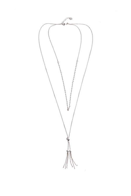 Two Chains Tassel Necklace