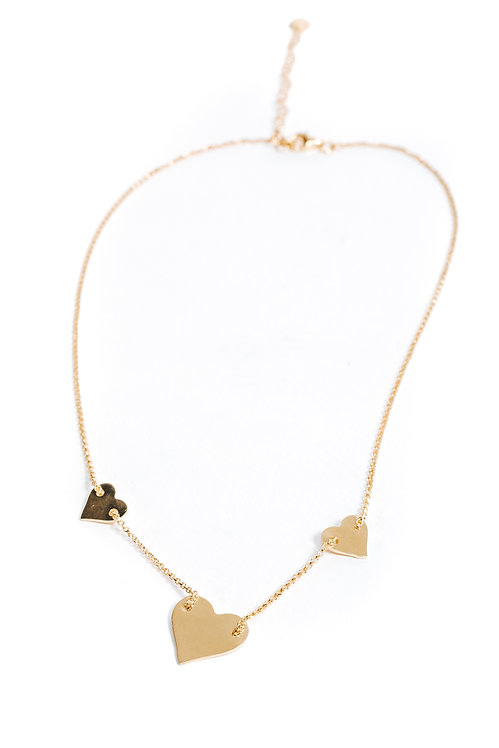 Chained Hearts Necklace