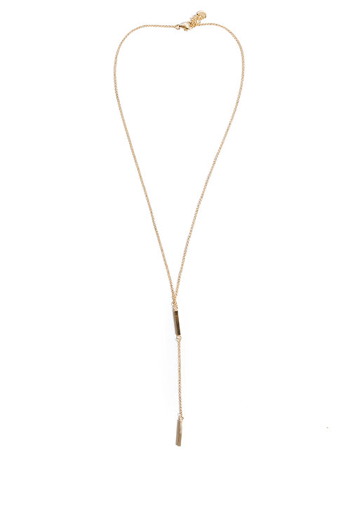 Gold Bars Fixed Pendant Necklace