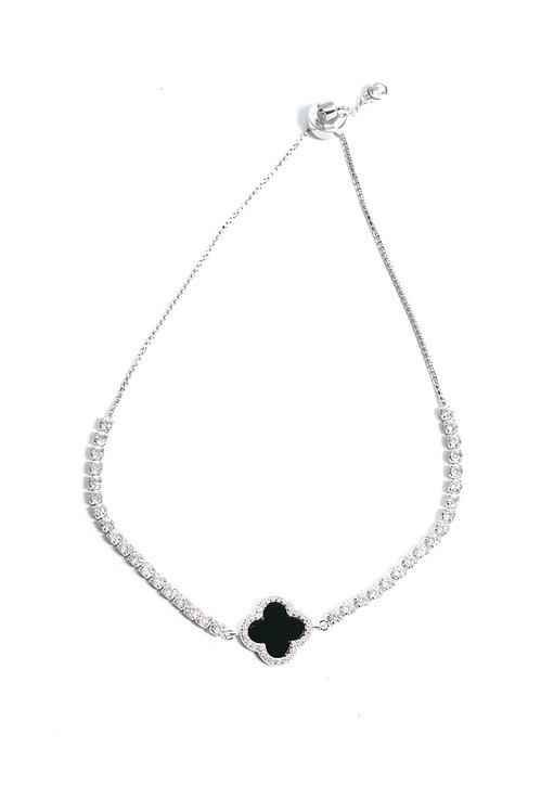 Black Onyx Adjustable Slider Bracelet