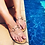 Thumbnail: Camel Snake skin look sandals