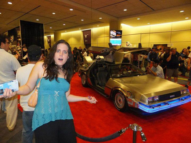 The Delorean at Fanexpo Toronto