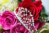 wedding tiara and flowers