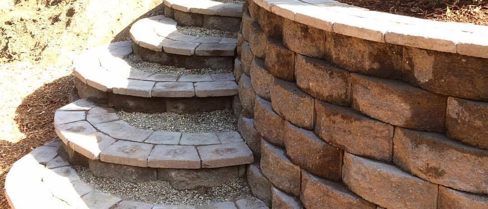 Hardscape stairs.