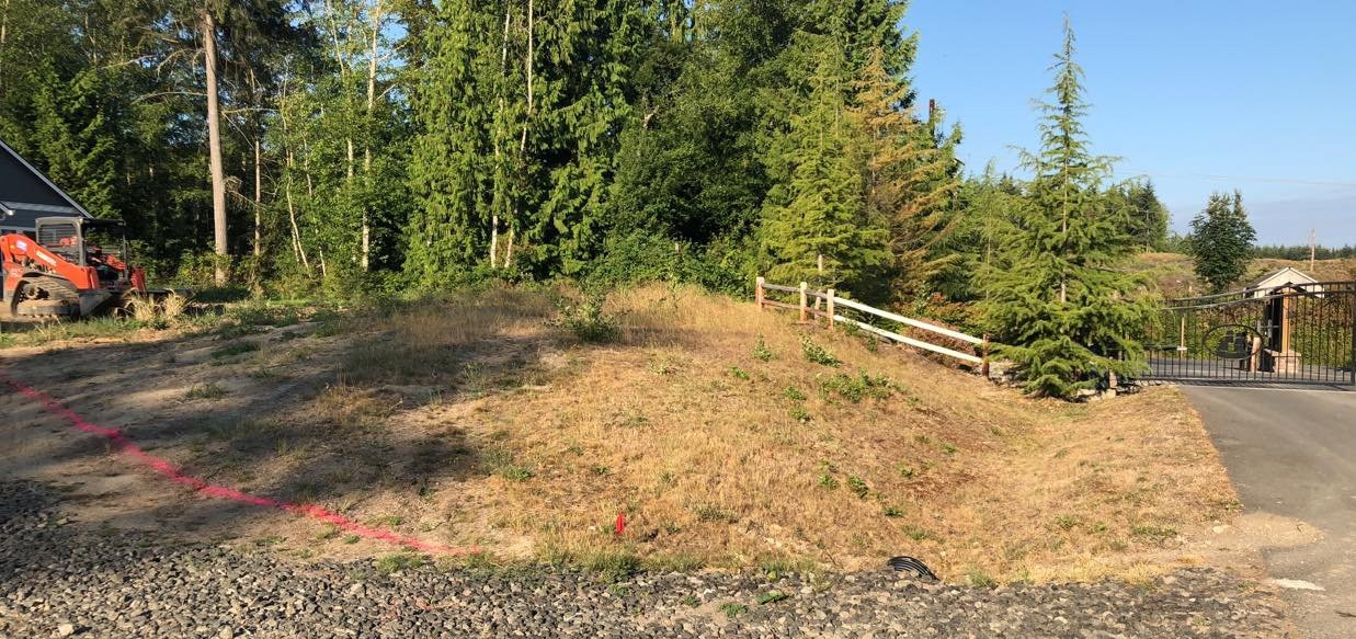 OM Before. HOA Landscape Installation Hansville