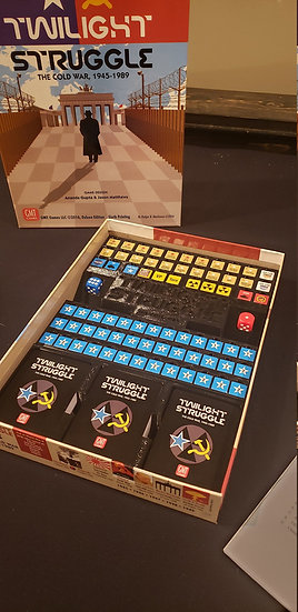 Twilight Struggle board game insert / box organizer with player trays
