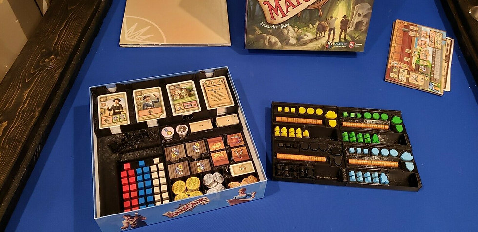 Maracaibo board game Insert / Box Organizer with individual player trays