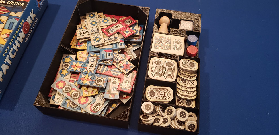 Patchwork board game  Insert / Box Organizer