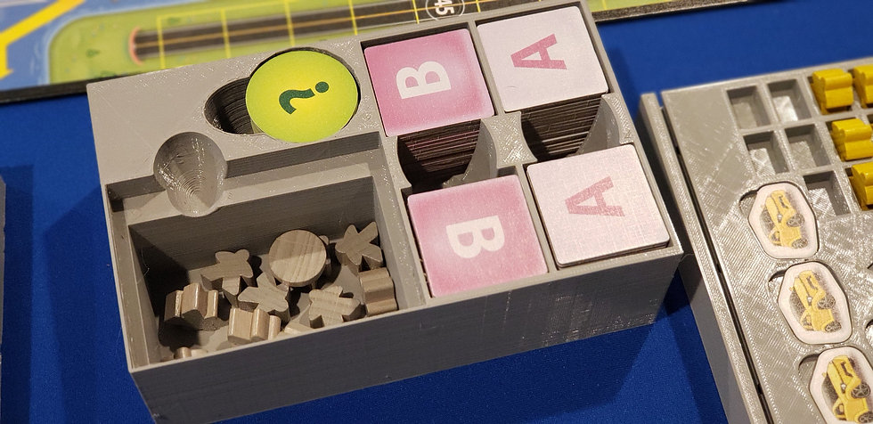 Automania board game insert / box organizer / trays with individual player dashb