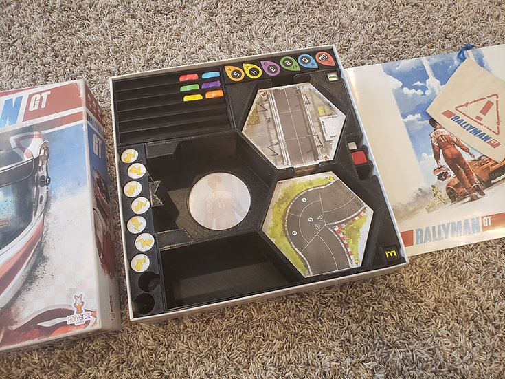 Rallyman GT +Expansions Insert / Box organizer & board game clips