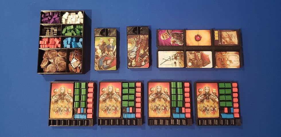 Paladins of the West Kingdom board game  Insert / Box Organizer with individual
