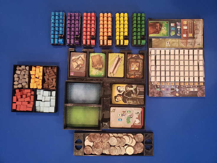 Architects of the West Kingdom +Expansion Insert / board game Box Organizer with
