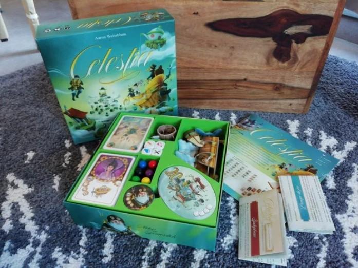 Celestia +expansions board game insert / box organizer