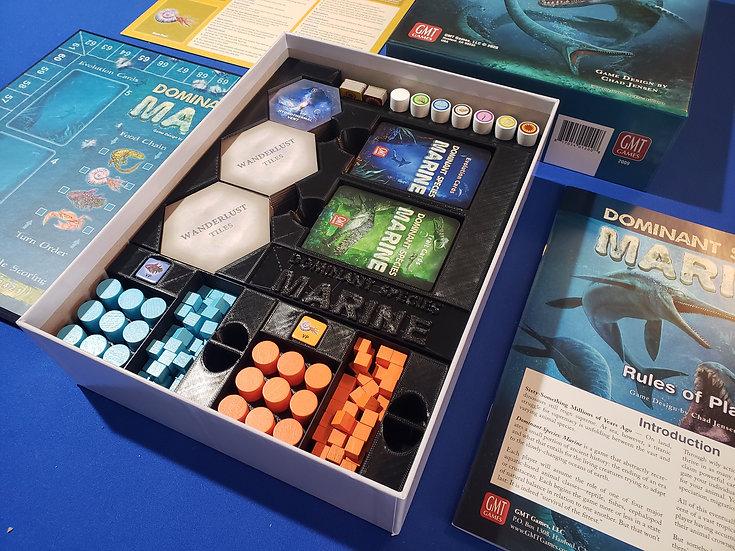 Dominant Species: Marine Insert / box organizer with individual player trays