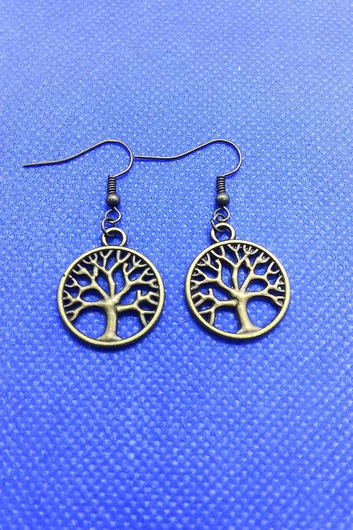 Tree of Life Earrings - Bronze Circle
