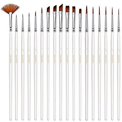 18 pc Fine Detail Paint Brush Kit