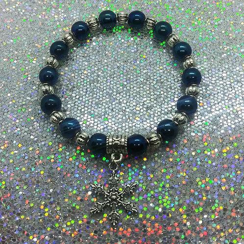 Sapphire Snowflake Charm Bracelet