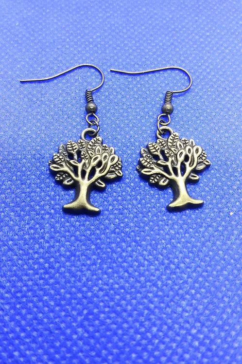Tree of Life Earrings - Bronze