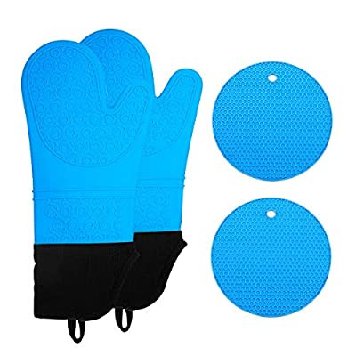 Silicone Oven Mitts and Pot Holders